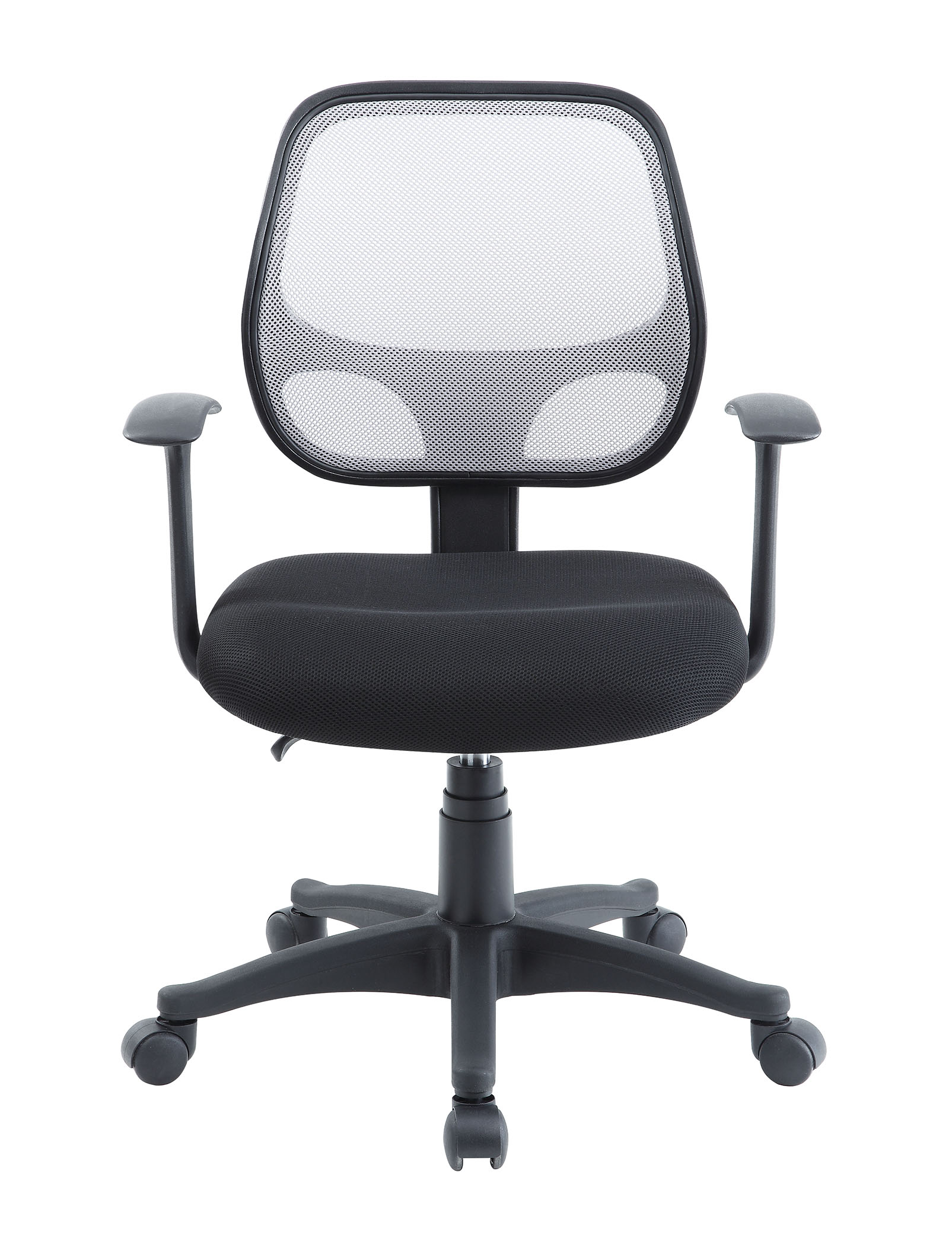Mainstays Mesh Office Chairs With Arms Black With Gray Mesh Back Walmart Com Walmart Com