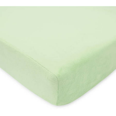 American Baby Company Heavenly Soft Chenille Fitted Crib Sheet, Celery