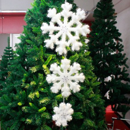 Pack of 3 White Foam Fantasies Snowflake Christmas Tree Ornaments Home Decor](Foam Snowflakes)
