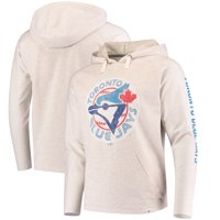 739680fc2 Toronto Blue Jays Fanatics Branded True Classics French Terry Pullover  Hoodie - Cream