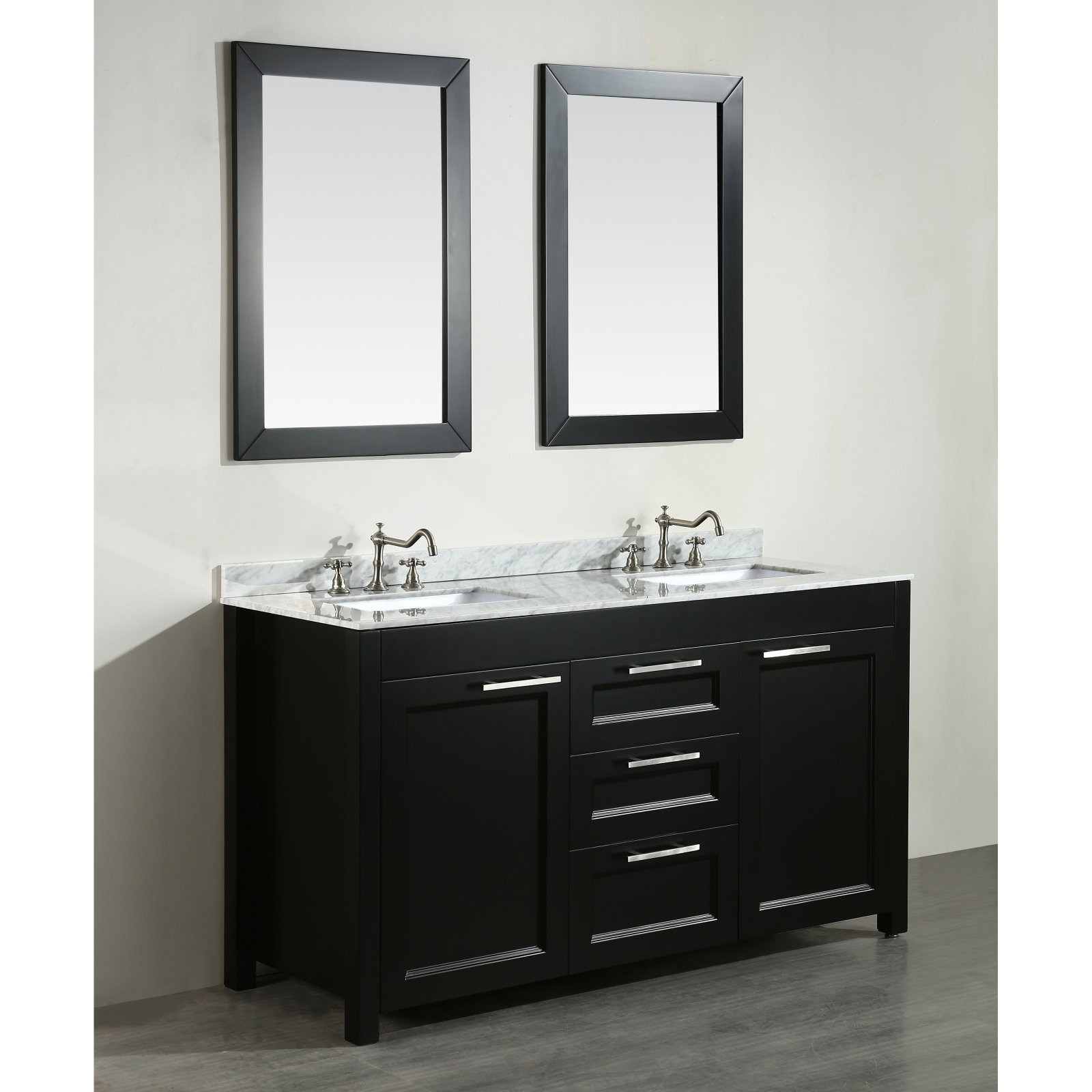 60'' Bosconi SB-267 Contemporary Double Vanity