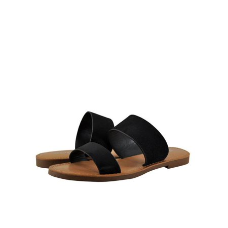 cd60e6070c62 Soda - Soda Allie-S Womens Open Toe Double Strap Sandals - Walmart.com