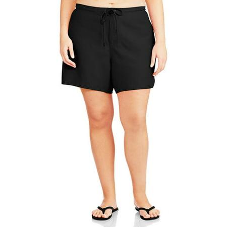 f2306b29b4 Catalina - Women's Plus-Size Swim Cover-Up Boardshorts - Walmart.com