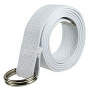 Gelante Canvas Web D Ring Belt Silver Buckle Military Style for men & women 1 or 3 pcs