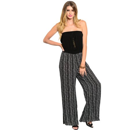 Must Have Womens Black/White Jumpsuit - Rave Must Haves