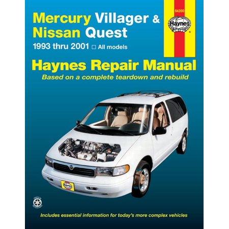 Haynes 64200 Repair Manual Villager   For Nissan Quest  English  Paper Format