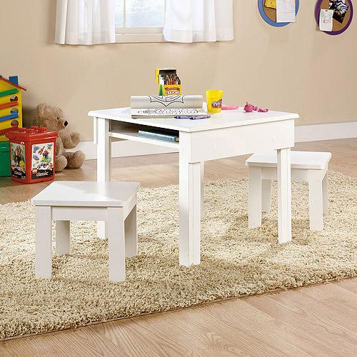 Sauder Beginnings Kids Table and Stool Set, Multiple Finishes