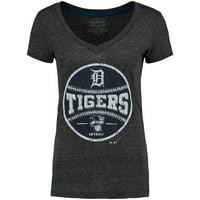 Detroit Tigers Women's Hometown T-Shirt - Charcoal