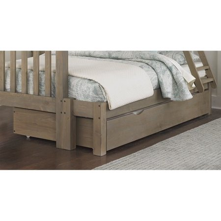 Rosebery Kids Twin over Full Bunk Bed with Trundle in Driftwood - image 1 de 2