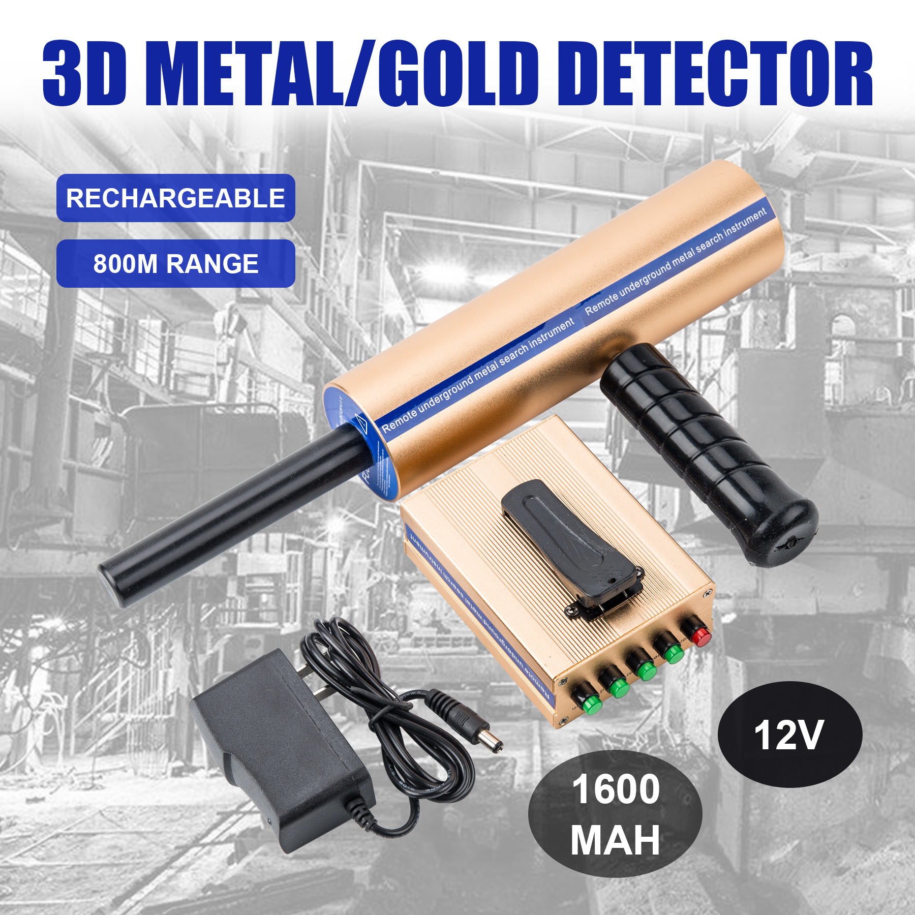 Long Range Metal Detector Underground Gold Diamond Hunter Finder Professional Detectors Detecting 2625 Feet