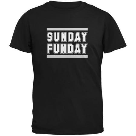 Sunday Funday Oakland Black Adult T-Shirt (Black Sunday)