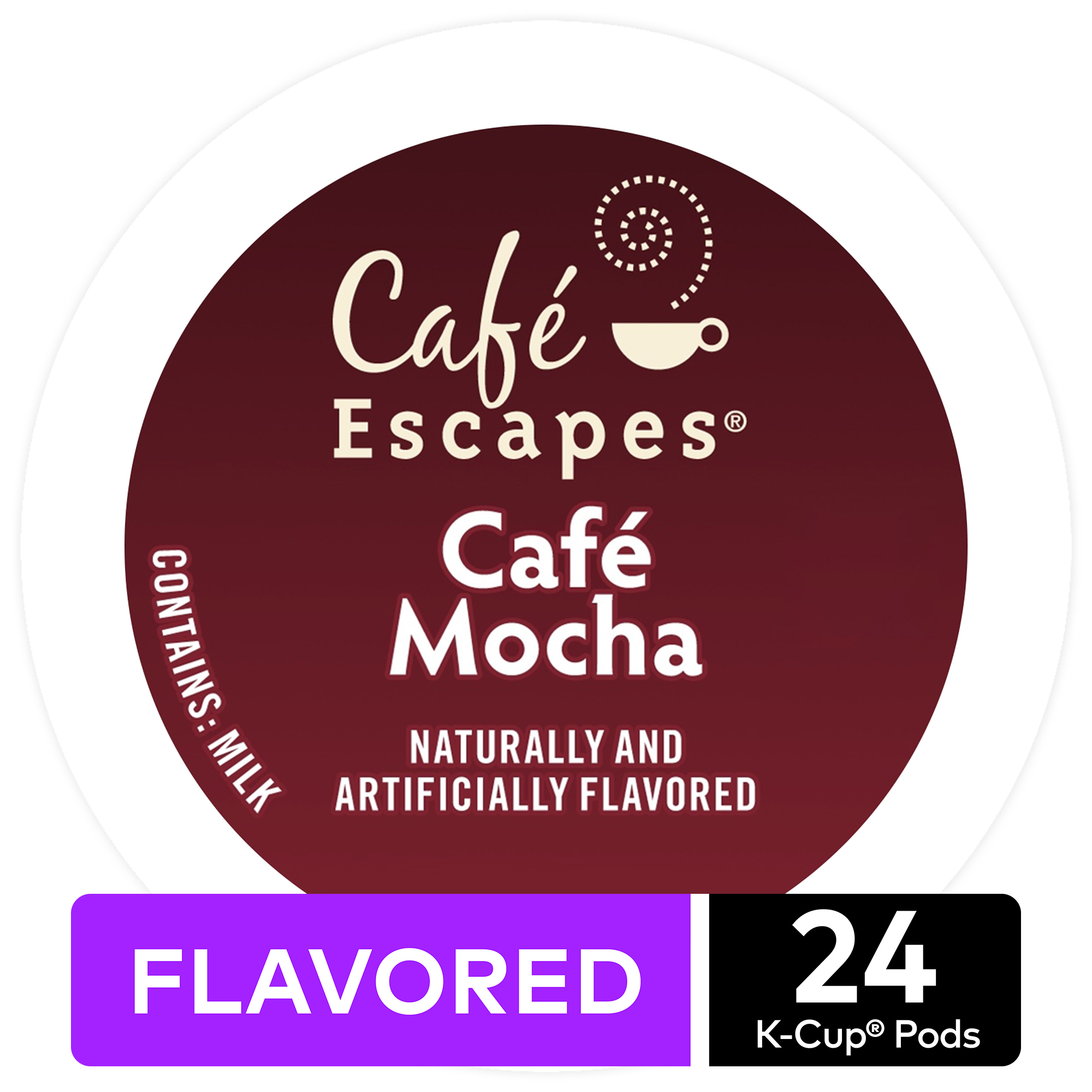 Caf Escapes Caf Mocha K-Cup Pods, 24 Count for Keurig Brewers