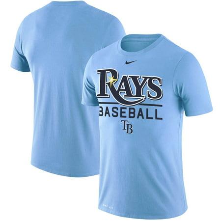 Tampa Bay Rays Nike Practice Performance T-Shirt - Light Blue