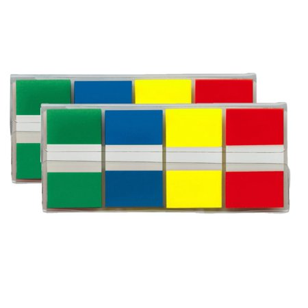 Post-it Flags, Assorted Primary Colors, .94 in. Wide, 80/On-the-Go Dispenser, 2 Dispensers/Pack](Post It Flags Bulk)