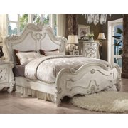 Versailles Bone White King Sleigh Bed