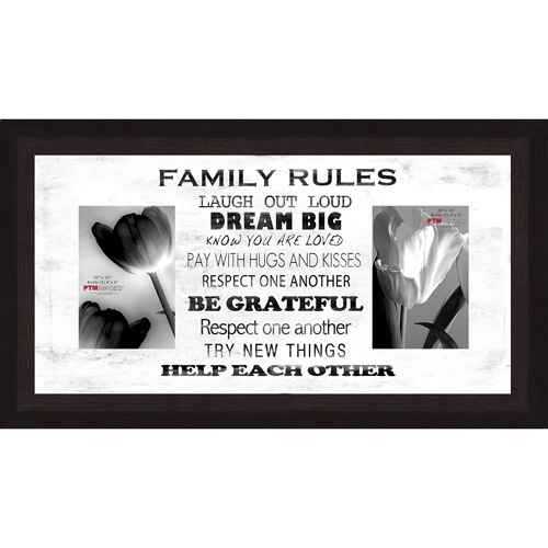 "Family Rules White IV 20"" x 10"" Collage Picture Frame"