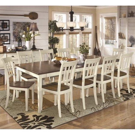 Ashley Whitesburg 11 Piece Extendable Dining Set In Brown