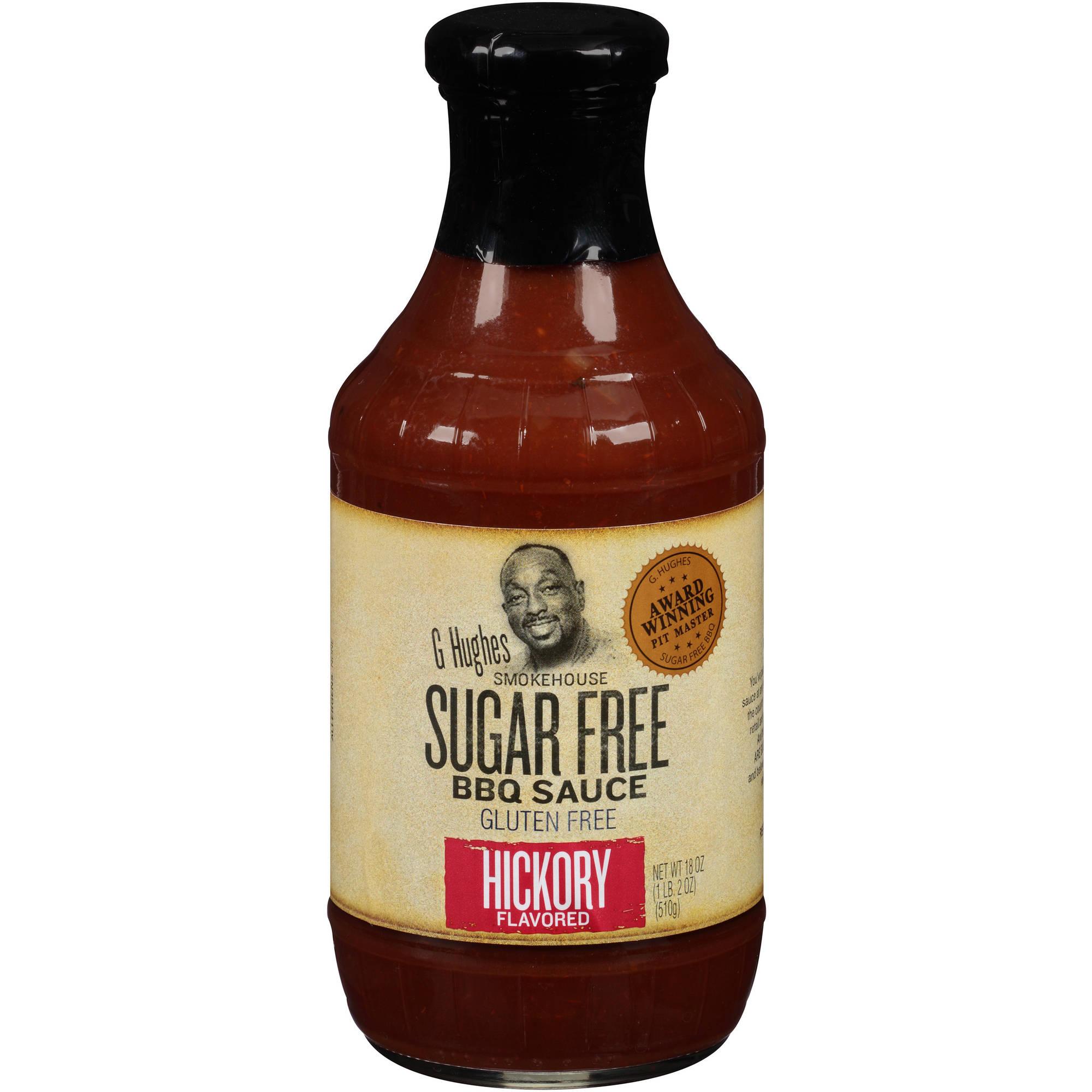 G Hughes Smokehouse Sugar Free Hickory Flavored BBQ Sauce, 18 oz