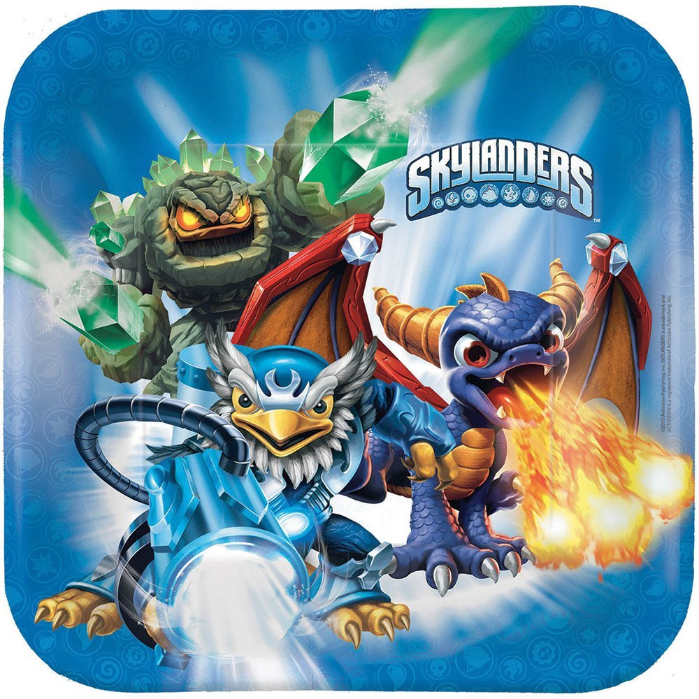Skylanders Lunch Plates - Birthday and Theme Party Supplies - 8 Per Pack By SmileMakers Inc