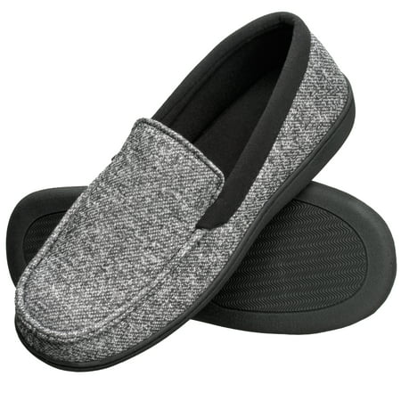 Hanes Men's Slippers House Shoes Moccasin Comfort Memory Foam Indoor Outdoor Fresh IQ - Slipper Heels Shoes