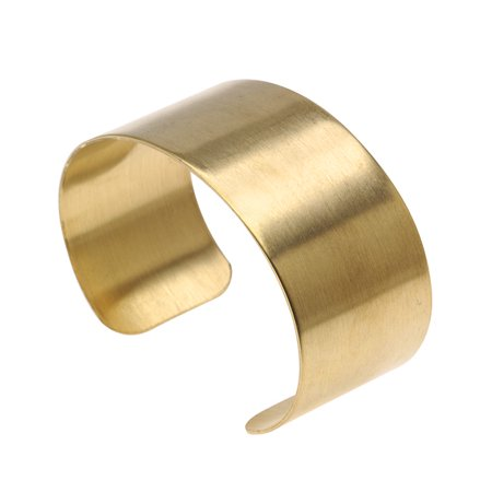 Solid Brass Flat Cuff Bracelet Base 28.5mm (1 Inch) Wide (1 Piece)