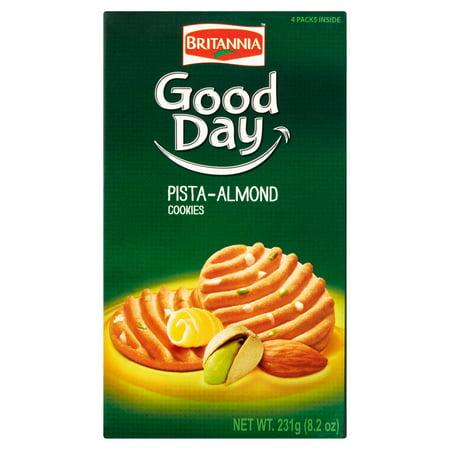 Good Fortunes Sweet Cookies ((2 Pack) Britannia Good Day Pista-Almond Cookies, 8.15 oz )