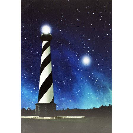 Cape Hatteras Light (Cape Hatteras Lighthouse Printed Canvas Scene With LED Light and Fiber)