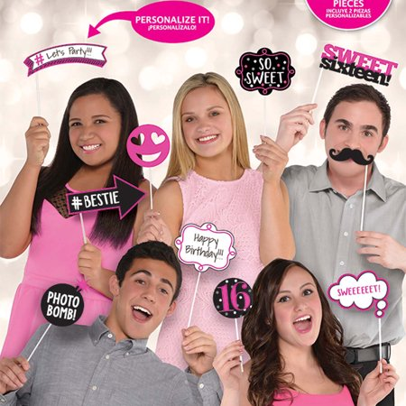 Sweet Sixteen Photo Booth Props (Swet 16)