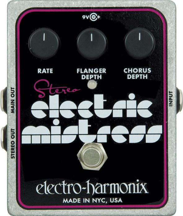Electro-Harmonix Stereo Electric Mistress Flanger Chorus Pedal by Electro-Harmonix
