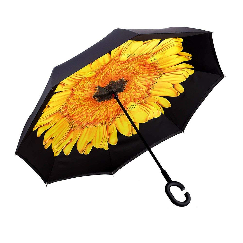Custom Tennis Balls Compact Travel Windproof Rainproof Foldable Umbrella