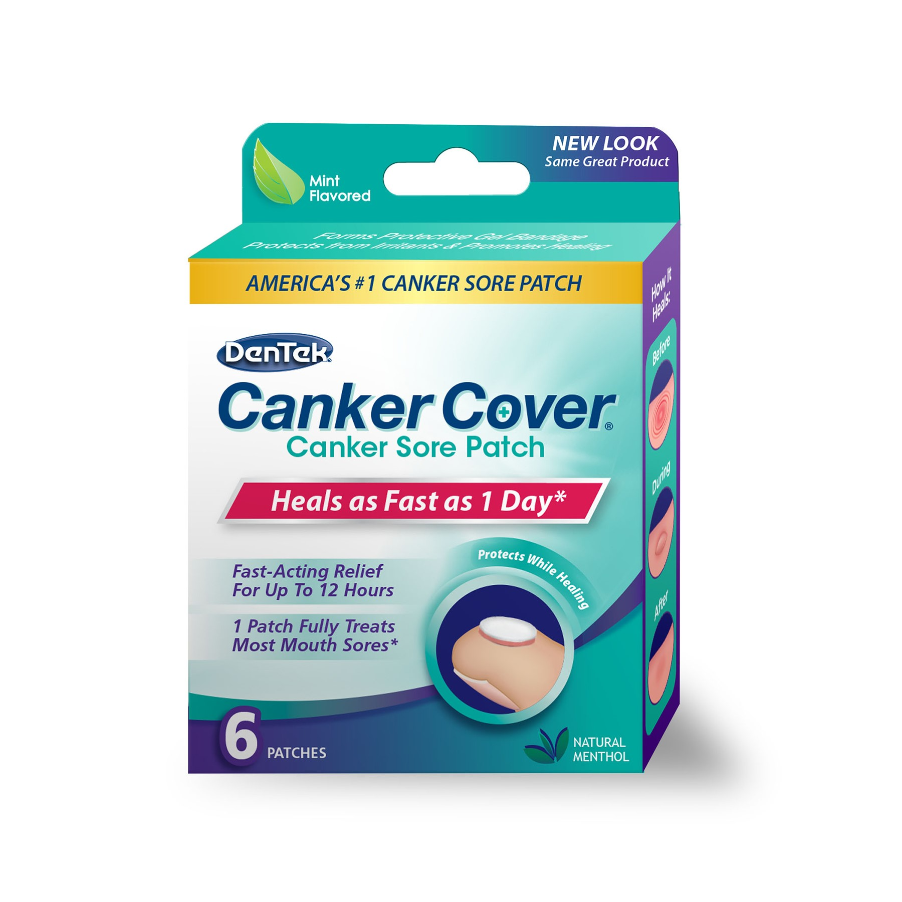 DenTek Canker Cover Canker Sore Patch Mint - 6 CT