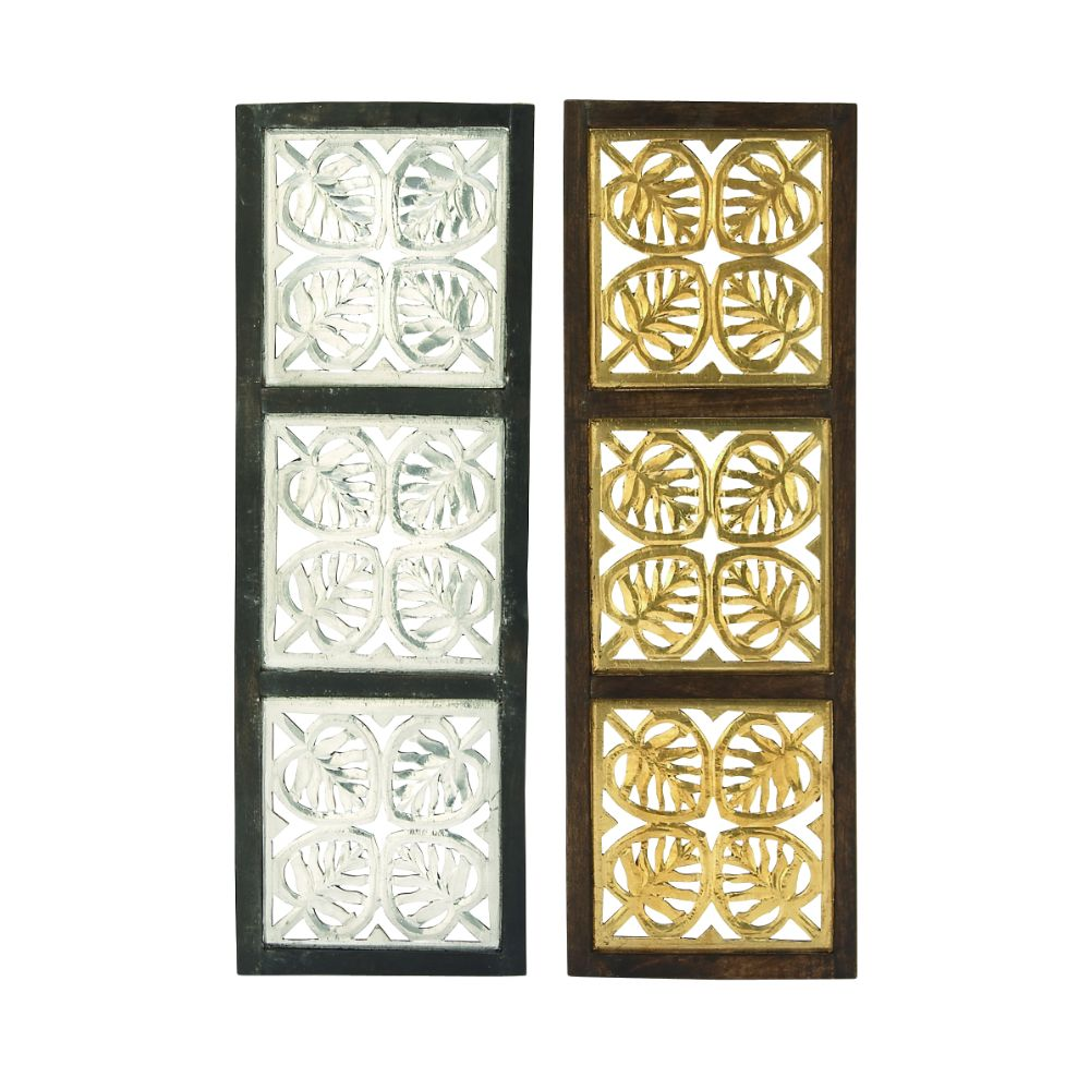 Classy Wood Metal Foil Panel 2 Assorted