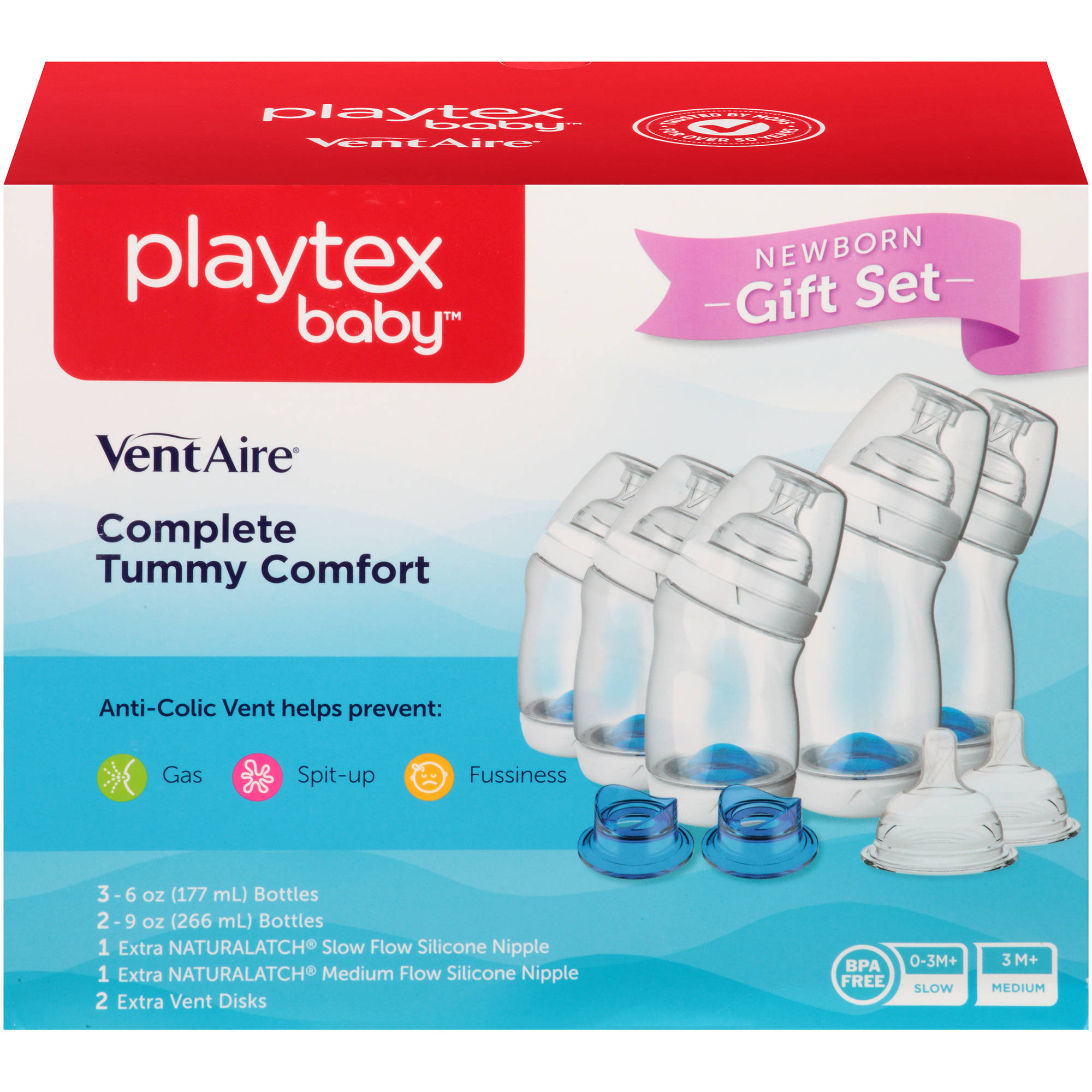 Playtex Baby VentAire Complete Tummy Comfort Baby Bottle Gift Set