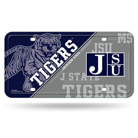 Jackson State Tigers NCAA 12x6 Auto Metal License Plate Tag CAR TRUCK