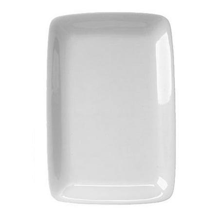 HIC Harold Import Co White Porcelain Rectangular Platter, Set of 2