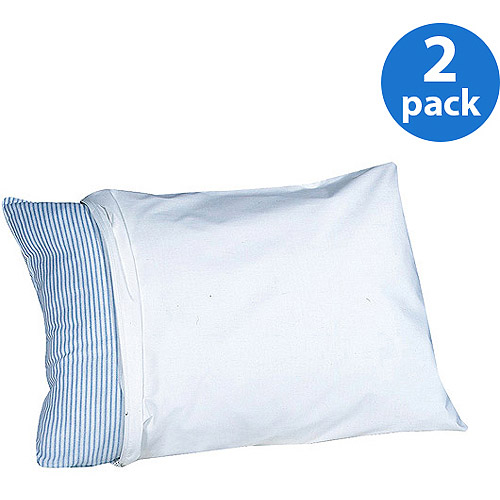 Teflon-Coated Water-Repellant Cotton Pillow Protectors, 2-Pack by Levinsohn Textile Co Inc