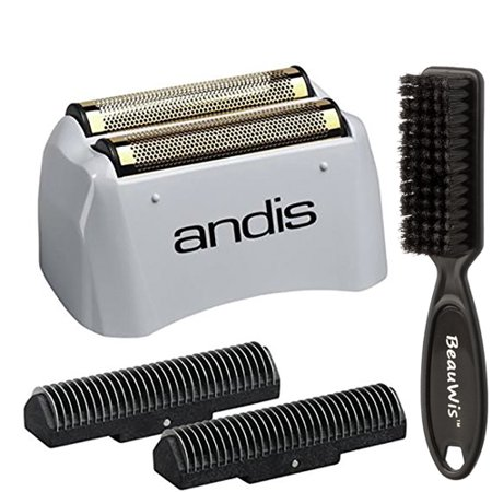 Andis Pro Shaver No.17155 Replacement Lithium Titanium Foil Assembly and Inner Cutters, With a Bonus BeauWis Blade (Titanium Replacement)