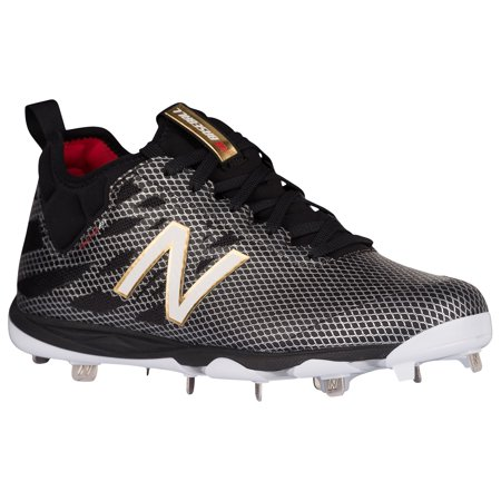 34a2b3a68 new balance 406v1 metal cleats low-cut - black white - Walmart.com