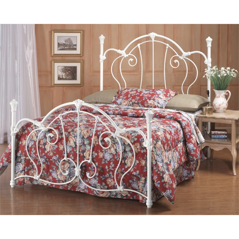 Hillsdale Cherie Queen Metal Poster Spindle Headboard and Footboard by Hillsdale