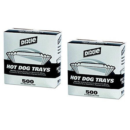 2 X 8 in./500 ct., Ideal for: vending, foodservice, restaurants, offices, convenience stores, retail stores, daycares and schools. By Dixie Hot Dog Trays Ship from US](Hot Dog Wrappers)