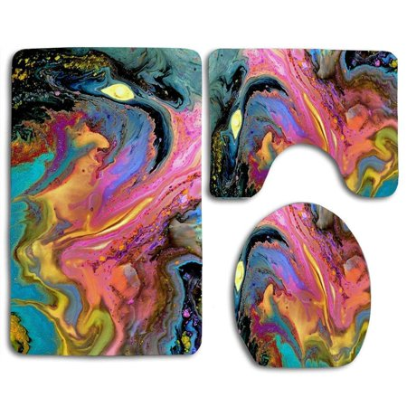 GOHAO Sea Turtle at Dawn 3 Piece Bathroom Rugs Set Bath Rug Contour Mat and Toilet Lid Cover ()