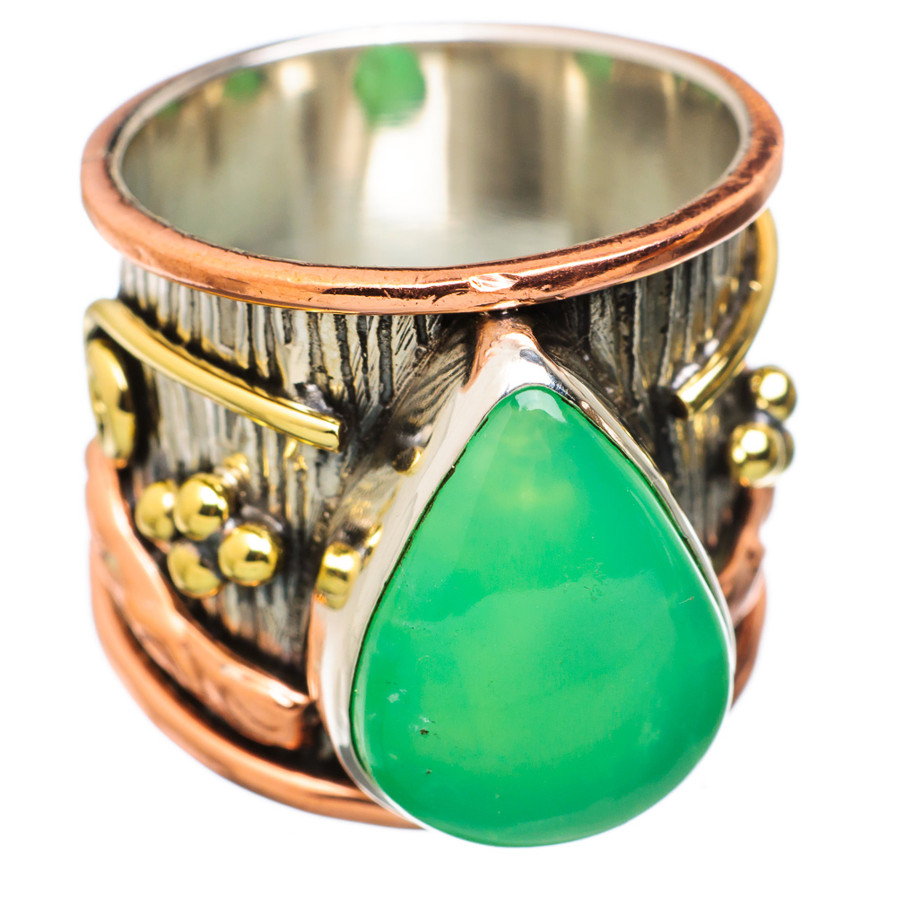Ana Silver Co Chrysoprase 925 Sterling Silver Ring Size 7.75 RING831199 by Ana Silver Co.