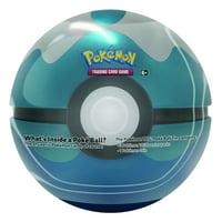 Pokemon TCG: Poke Ball Tin- Blue- Dive Pokeball- Metal Tin and Card Case | 3 Booster Packs