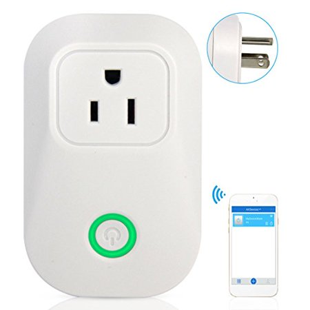 ANRIS ITEAD WiFi Smart Plug Outlet Switch & Wireless Timer Power Socket&  Remote Control for your Lamp Apply to Humidifier Space Heater Christmas  Tree