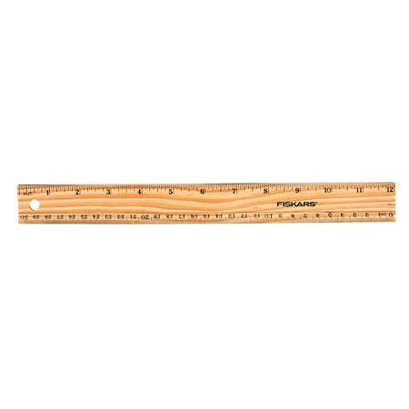 Fiskars 12-inch/30 cm Wood Ruler - Pack of 2