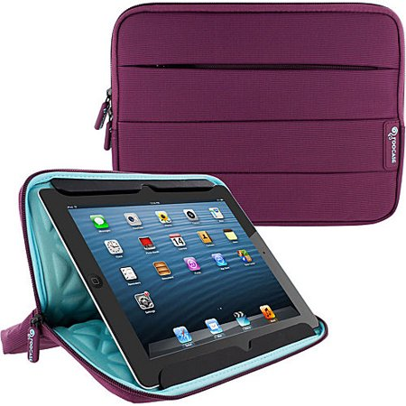 Ipod Carrying Case (Universal Sleeve for 10 inch Tablet, rooCASE Nylon Carrying Sleeve Pouch Case for iPad Pro 9.7, Air 2 1, Galaxy Tab A 9.7/10.1, Google Nexus 9, LG G Pad 10 and More )