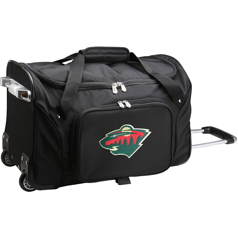 "Denco NHL 22"" Rolling Duffel, Minnesota Wild"