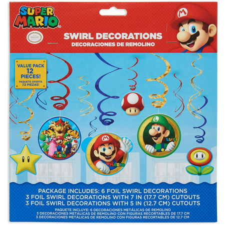 Super Mario Hanging Party Decorations, Party Supplies](Super Mario Party Decorations)