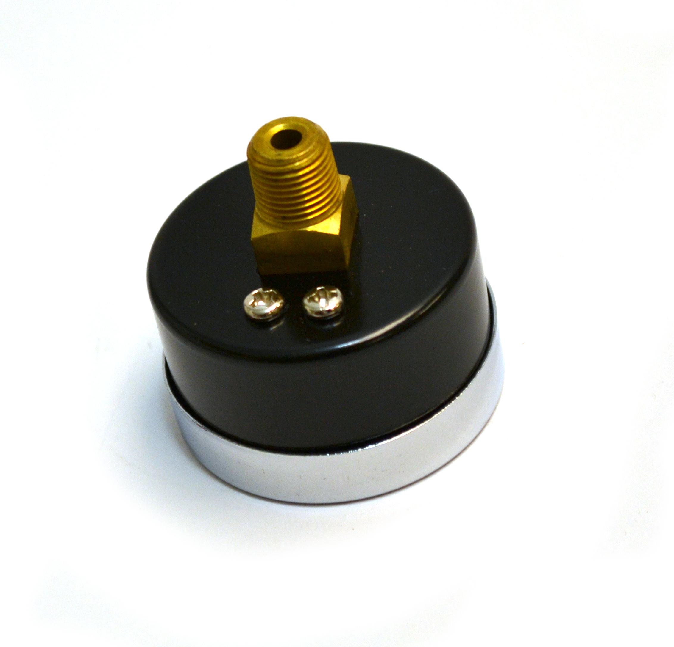 // Groz 60635 Pressure Gauge 1//8 NPT Dual Scale PSI//bar 5/% Back Mount 0-14 PSI Range