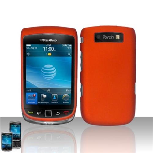 Insten Rubberized SnapOn Protector Case - Orange For Blackberry Torch 9800